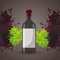 Weinhausplakat mit Flasche vektor