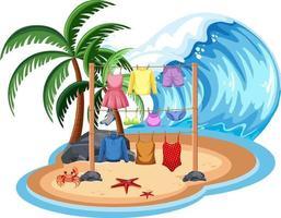 coth hängande på stranden vektor