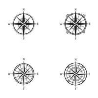 Kompass Set Icon Logo Vektor