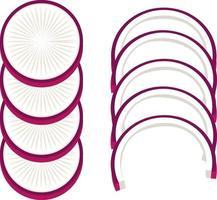 Radieschen geschnittene Zutat isoliert vektor