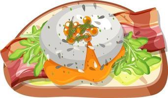 ovanifrån av brödfrukost med toppning