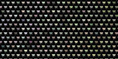 leichtes mehrfarbiges Layout mit Linien, Dreiecken