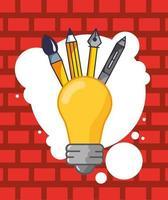 glödlampa och kreativa ikoner vektor