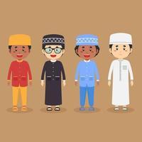 Aktienvektor muslimischen Zeichensatz vektor
