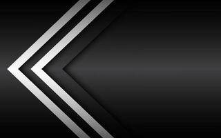 svartvita överlagrade pilar, abstrakt modern vektorbakgrund med plats för din text, materialdesign, abstrakt widescreen-bakgrund vektor