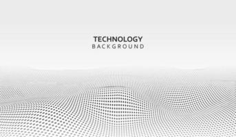 abstrakt teknik bakgrund. bakgrund 3d rutnät. cyberteknik ai tech trådnät futuristisk trådram. artificiell intelligens vektor