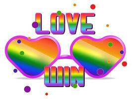 lgbt Rechte Symbol Farbe Regenbogen isoliert vektor