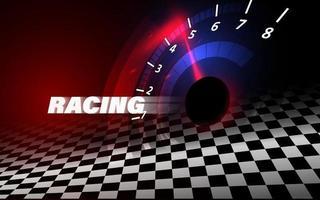 hastighet rörelse bakgrund med snabb hastighetsmätare bil. racing hastighet bakgrund. vektor
