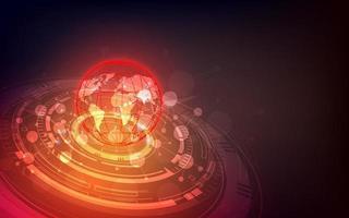 futuristiskt globaliseringsgränssnitt, en känsla av vetenskap och teknik abstrakt grafik. vektor