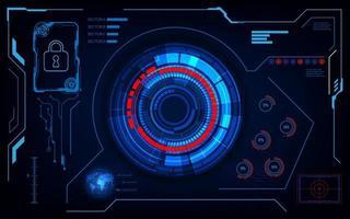 gränssnitt futuristiska hud ui sci fi design säkerhetskoncept mall vektor