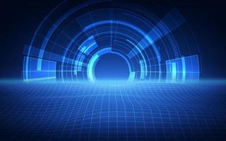 abstraktes futuristisches Hintergrundtechnologie-Science-Fiction-Konzept vektor