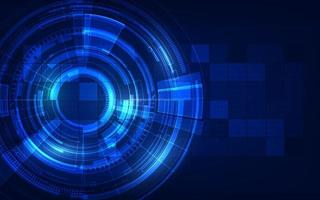 Kreis blau abstrakte Technologie Innovation Konzept Vektor Hintergrund