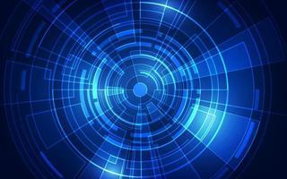 abstrakter futuristischer digitaler Technologiehintergrund. vektor