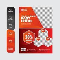 Food Delivery Flyer Broschüre Broschüre Design-Vorlage vektor