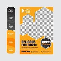 Restaurantmenü, Broschüre, Flyer Design Vorlage vektor