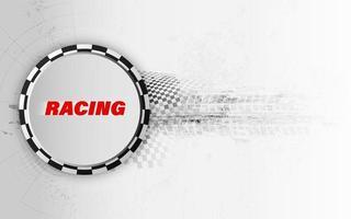 racing fyrkantig bakgrund, vektorabstraktion i racerbanan vektor