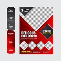 gesunde Essen Restaurant Poster Vorlage vektor