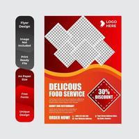 moderne Restaurant Flyer Vorlage vektor