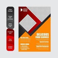 Frühstücksflyer für Restaurantessen