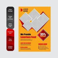 Fast-Food-Flyer Design-Vorlage