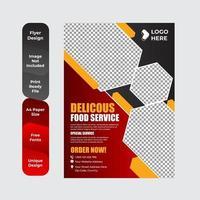 Frühstücksflyer für Restaurantlebensmittelschablone