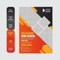 leckeres Essen Vorlage Design für Restaurants