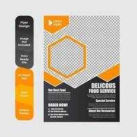 Food Delivery Flyer Broschüre Broschüre Design-Vorlage