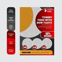restaurang meny broschyr flygblad designmall vektor
