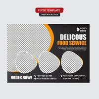 moderne Gourmet Restaurant Flyer Vorlage vektor