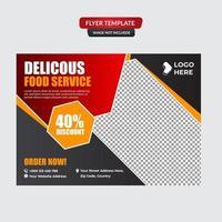 Restaurant Food Flyer Promotion Vorlage