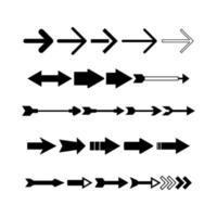 Satz Pfeile auf weißem Hintergrund vektor