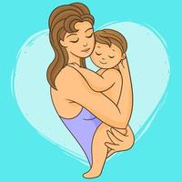Mutter mit ihrem Neugeborenen
