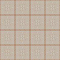 weiße Verzierung auf dem braunen Hintergrund. nahtloses Muster vektor
