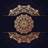 Luxus-Mandala-Hintergrunddesign vektor