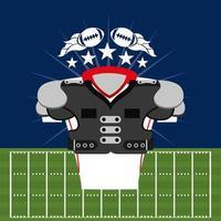 American-Football-Sportplakat mit Front-Shirt-Ausrüstung vektor