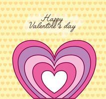 Valentinstag Feier mit Herz