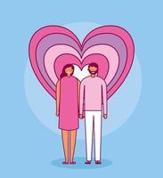 alla hjärtans dag firande med älskare vektor