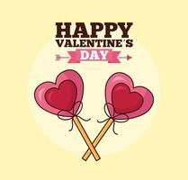 Alla hjärtans dag firande med hjärtan klubbor