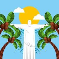brasiliansk karneval firande design vektor