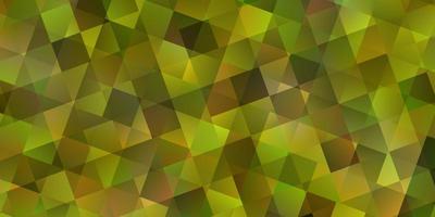 ljusgrönt mönster i polygonal stil med kuber vektor
