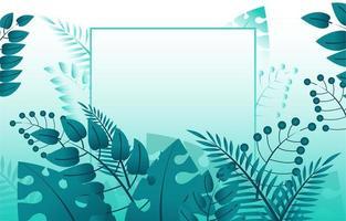 grüner Laubhintergrund mit Linienrahmen