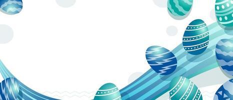 fließendes metallisches blaues Ei für Ostertag vektor
