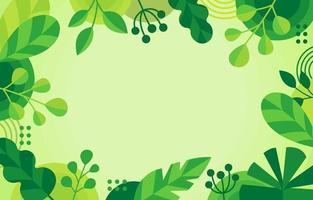 grüner geometrischer Blumenhintergrund vektor