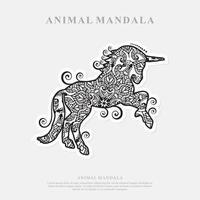Einhorn Mandala. Vintage dekorative Elemente. orientalisches Muster, Vektorillustration. vektor