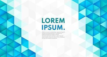 abstrakte trendige Farbe geometrische Form auf weißem grauem Hintergrund mit Kopienraum. moderne futuristische Tech-Muster blaue und grüne Farbe. Sie können für Vorlage, Banner Web verwenden. Vektorillustration vektor