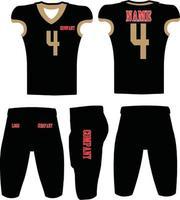 anpassad design amerikansk fotboll uniformer illustration