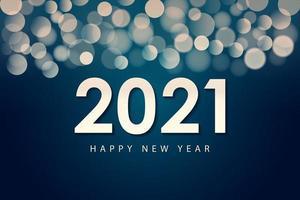 Frohes neues Jahr 2021 Design-Vorlage für Grußkarten, Poster, Banner, Vektor-Illustration.