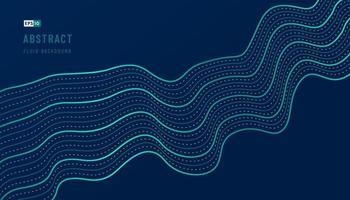 abstrakter grüner und blauer Wellenmusterentwurf des wellenförmigen Dekorationsgrafikschablonenhintergrunds mit Kopienraum. futuristisches Technologiekonzept. Bewegung des klangdynamischen Stils. Vektorillustration