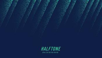abstrakte grüne und blaue diagonale Halbtonbeschaffenheit auf dunkelblauem Hintergrund mit Kopienraum. futuristisches dynamisches Musterdesign. modernes einfaches Punktmuster. Vektorillustration vektor