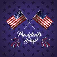 Happy Presidents Day Feier Poster mit USA Flaggen
